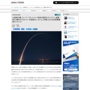 研究テーマ別「ロケット・宇宙航行システム」市場における科研費獲得ランキング