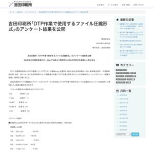 吉田印刷所「DTP作業で使用するファイル圧縮形式」のアンケート結果を公開