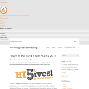 HI5ive to the world's best hostels, 2015