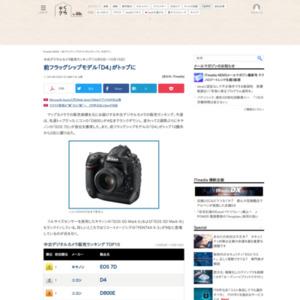 中古デジタルカメラ販売ランキング(2014年10月9日~10月15日)