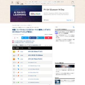 中古カメラレンズ販売ランキング ニコン編(2014年12月11日~12月17日)