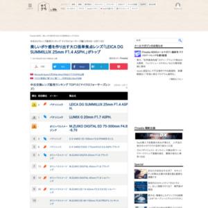 中古カメラレンズ販売ランキング マイクロフォーサーズ編(2015年2月6日~2月11日)