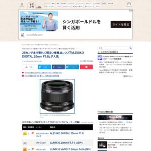 中古カメラレンズ販売ランキング マイクロフォーサーズ編(5月28日~6月3日)