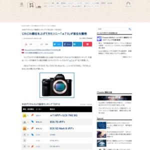 中古デジタルカメラ販売ランキング(2015年7月23日~7月29日)