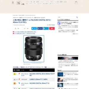 中古カメラレンズ販売ランキング マイクロフォーサーズ編(2015年8月20日~8月26日)
