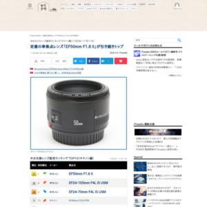 中古カメラレンズ販売ランキング キヤノン編(2015年11月5日~11月11日)