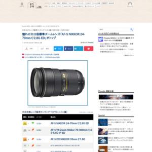 中古カメラレンズ販売ランキング ニコン編(2015年12月10日~12月16日)