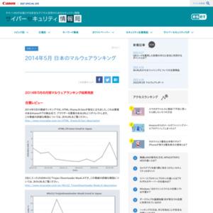 マルウェアランキング 2014年5月(日本のランキング)