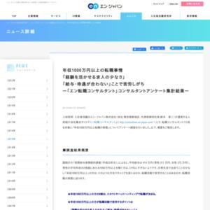 「年収1000万円以上転職の実態」についてアンケート調査