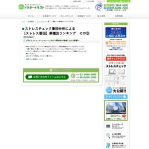 【ストレス要因】業種別ランキング その(3)