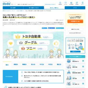 DODA転職人気企業ランキング
