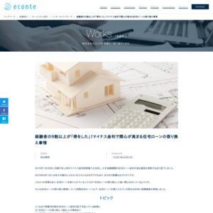 住宅ローンに対する意識調査