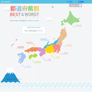 「都道府県別ベスト&ワースト」ランキング