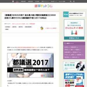 東京都議選の議席予想・情勢分析レポート