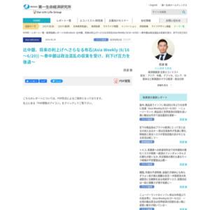 比中銀、将来の利上げへさらなる布石(Asia Weekly (6/16~6/20)) ~泰中銀は政治混乱の収束を受け、利下げ圧力を後退~