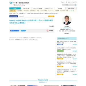 Weekly Market Report(2013年5月27日~) ~期待の梯子を外された日本市場~