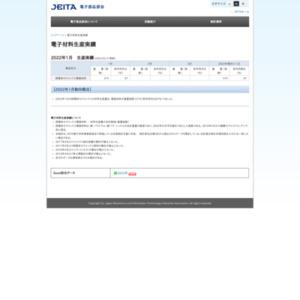 電子材料生産実績(2011年10月分)