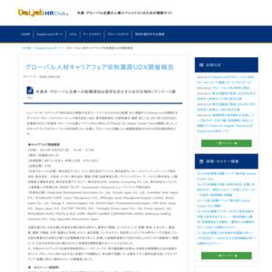 グローバル人材キャリアフェア開催報告レポート
