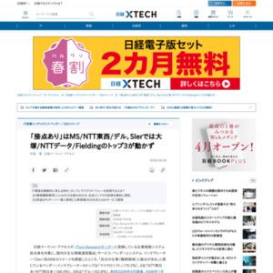 「接点あり」はMS/NTT東西/デル,SIerでは大塚/NTTデータ/Fieldingのトップ3が動かず