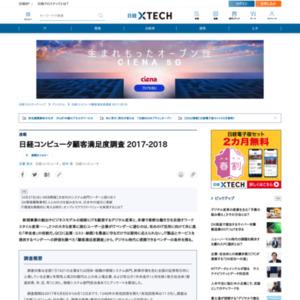 日経コンピュータ顧客満足度調査 2017-2018