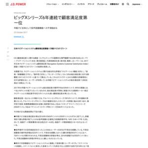 日本ナビゲーションシステム顧客満足度調査<市販ナビカテゴリー>