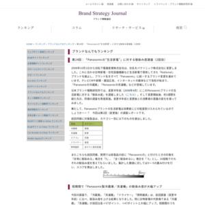 """第24回:「Panasonicの""""生活家電""""」に対する馴染み度調査(2回目)(2008)"""