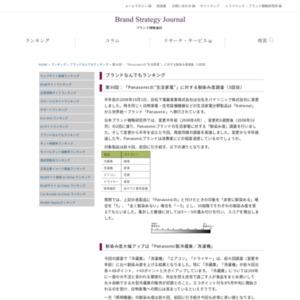 """第30回:「Panasonicの""""生活家電""""」に対する馴染み度調査(3回目)(2009)"""