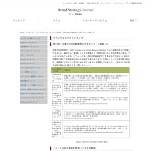 第34回:企業のCSR活動事例に対するイメージ調査(2)(2009)
