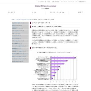 第36回:企業社員による不祥事に対する意識調査(2010)