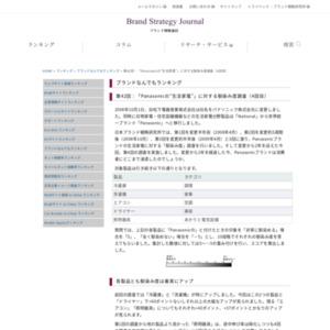 """第42回:「Panasonicの""""生活家電""""」に対する馴染み度調査(4回目)(2010)"""