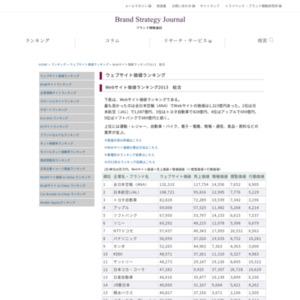 Webサイト価値ランキング2013