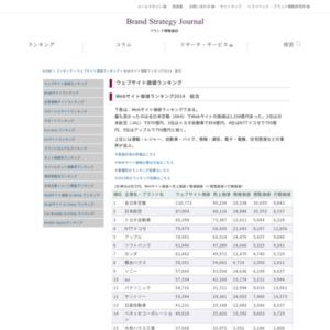 Webサイト価値ランキング2014