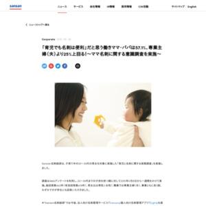 ママ名刺に関する意識調査