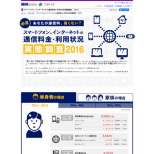 スマホ・インターネットの利用実態調査2016