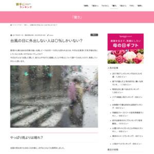 台風の日に外出しない人は○%しかいない? みんなの経験・考えを聞いてみました