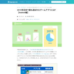 2015年日本で最も遊ばれたゲームアプリとは?【Android編】