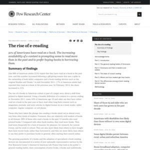 The rise of e-reading