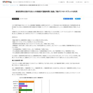 社会人向けの資格取得に関する意識調査結果レポート