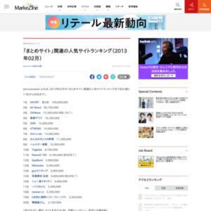 「まとめサイト」関連の人気サイトランキング(2013年02月)