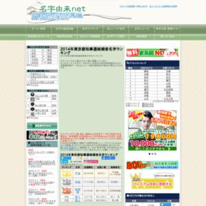 2014年東京都知事選候補者名字ランキング