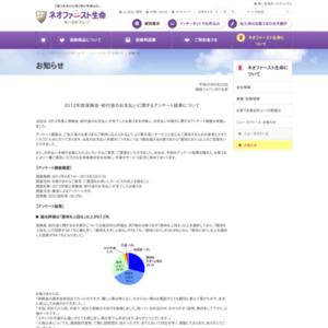 2012年度保険金・給付金のお支払いに関するアンケート
