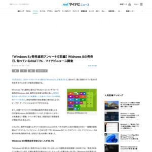 「Windows 8」発売直前アンケート!【前編】