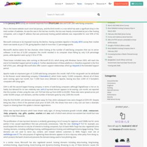 January 2015 Web Server Survey