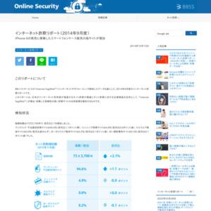 インターネット詐欺リポート(2014年9月度)