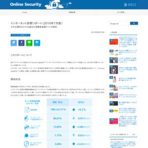 インターネット詐欺リポート(2016年7月度)