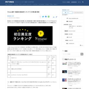 映画初日満足度ランキング(12月第2週)