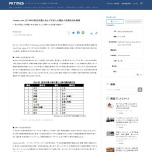 2014年の訪日外国人および日本人の国内人気滞在先