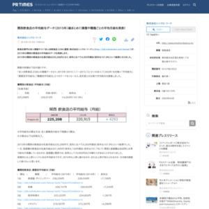 関西飲食店の平均給与データ(2015年)総まとめ!!業態や職種ごとの平均月給