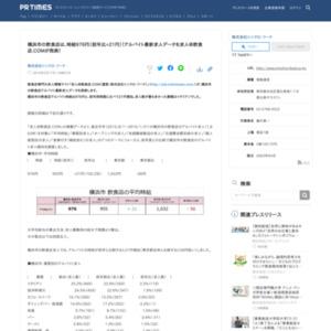 横浜市の飲食店アルバイト最新求人データ