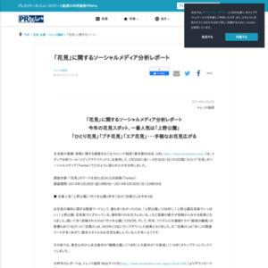 「花見」に関するソーシャルメディア分析レポート
